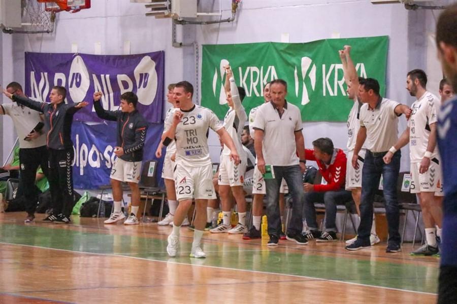 MRK Krka Novo mesto - RK Trimo Trebnje - cvickov derbi - Liga NLB - 19.10.2019-66 uros udovic veselje