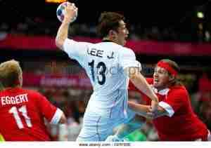 south-koreas-lee-jae-woo-takes-a-shot-against-denmarks-anders-eggert-ghy65e